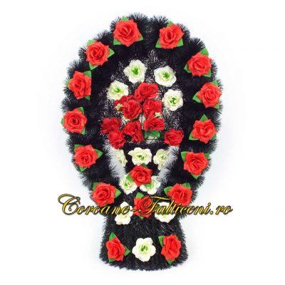 Coroane artificiale Falticeni Cos oval mic pin cu flori