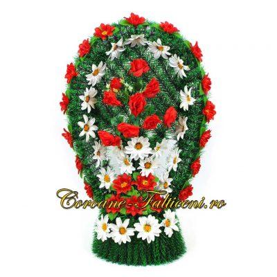 Coroane artificiale Falticeni Cos oval mare brad cu flori