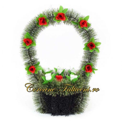 Coroane artificiale Falticeni Cos 1 mic cu toarta si flori
